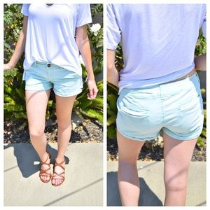 American Eagle Midi Shorts in Mint